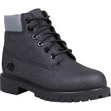 Timberland 6 Inch Classic Boot Youth Black Sting Ray Helcor Leather Ankle Boots