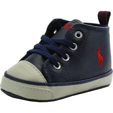 Polo Ralph Lauren Falmuth Mid Layette Navy Leather Soft Soles