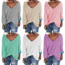 Women Long Sleeve Knitwear Jumper Cardigan Casual Jacket Sweater Tops Pullover