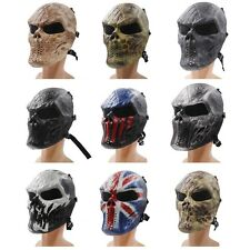 Full Face Skull Skeleton Airsoft Paintball CS Mask Tactical Military Masks Ghost