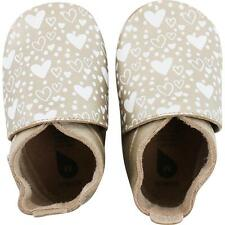 Bobux Heart Print Gold Leather Soft Soles