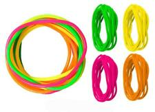 Bright Neon Shag Bands 90'S Retro Rubber Bracelets Four Pink Green Bangle's