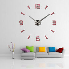 Fashion 3D Number DIY Acrylic Large Mirror Wall Clock Sticker Modern Home Decor
