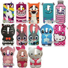 3D Cute Cartoon Soft Silicone Case Phone Back Cover Skin for LG Stylus 2 K520