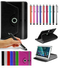 """For Archos 101 XS (10.1"""") Tablet Case Cover 360 Rotating Stand Wallets + Pen"""