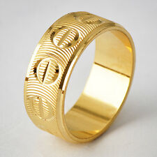 Fashion Jewelry Womens Mens gold filled knuckle Band Ring Size 6 7 8 9 10