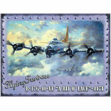 FLYING FORTRESS BOEING B17 BOMBER AEROPLANE VINTAGE STYLE METAL PLAQUE SIGN 352