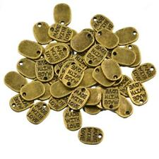 50pcs Heart Beads Charms Pendants Made With Love Jewelry Making Accessories