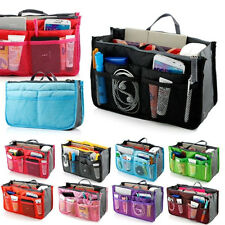 Lady Women Handbag Travel Bag Organizer Insert Liner Purse Organiser Large Tidy