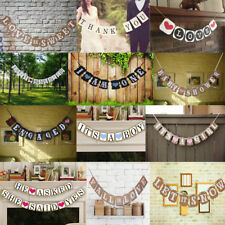 Rustic Paper Bunting Banner Hanging Garland Wedding Party Baby Shower Decoration
