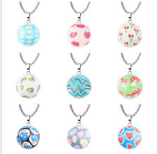 Print 22mm Chimes Harmony Balls Belly Pendant Necklace Long Chain for Mum to be