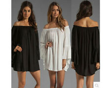 Shift fashion Sexy Women Girl Lady Off Shoulder Dress Party Top Clothes Outfit