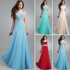 Beaded Sequins Women Bridesmaid Evening Party Ball Gown Cocktail Maxi Long Dress