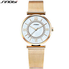 SINOBI Fashion Gold Watches Top Brand Ladies Watch Diamond Bracelet Watch Wom...
