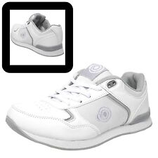 """DEK Ladies """"Kitty"""" Lace Up White Lawn Bowls Trainers Bowling Shoes"""