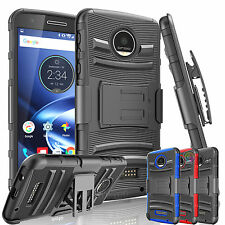 REFINED ARMOR COVER PHONE CASE + HOLSTER FOR Motorola Moto Z Force / Play Droid