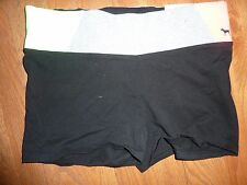 VICTORIAS SECRET PINK YOGA  SHORTIE DOG SHORTS NWT