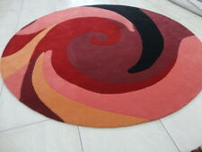 Indian Thick Soft Handmade Tufted Round Modern Bespoke Wool Carpet Area Rug Rugs