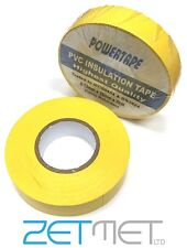 YELLOW Electricians PVC Electrical Insulation / Insulating Tape 19mm x 33m Rolls