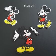 Mickey Mouse Heart Cartoon Minnie Character Embroidery Iron On Applique Patch