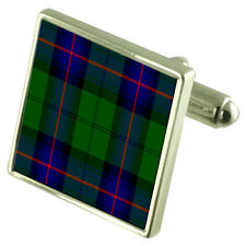 Armstrong Tartan Cufflinks Choice of Silver Gold Engraved Lape Pin Gift APS043