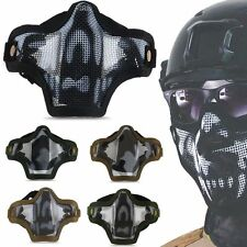 Outdoor Sport Metal Mesh Half Face Protector Masks COD Cosplay Airsoft Military