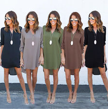 Sexy Women's Lady Summer Party Chiffon Dress Tops Loose Dress Clothes T Shirt