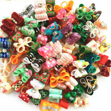 Handmade Hot Pet rubber bands puppy Bows Dogs cat Bow Grooming bowknot topknot