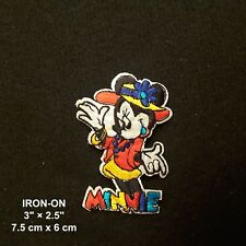 Minnie Mouse Heart Cartoon Mickey Character Embroidery Iron On Applique Patch