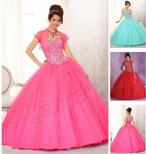 New Beads Quinceanera Dress Formal Prom Party Ball Gown Wedding Dresses Custom