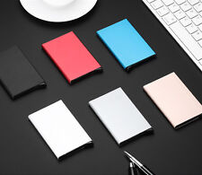 1Pc Man's Women Fashion Aluminum Slim Business ID Credit Card Holder Box Case CA