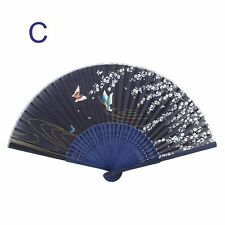 Bamboo Ribs Handle Bamboo Handle Bamboo Fan Silk Female Fan Folding Fan Fan