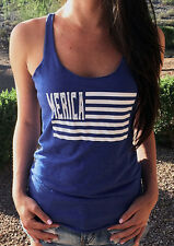 Women Casual Striped Letters Sleeveless Crewneck Tee T-shirt Camisole Tank Top