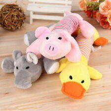 Pet Puppy Chew Squeaker Squeaky Plush Sound Pig Elephant Duck Ball For Dog ToAC