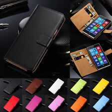 Luxury Genuine Real Leather Flip Case Wallet Cover For Nokia Lumia 1020