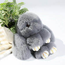 New Charm Furs Rabbit Plush Toy KeyRing Pendant Cute Mini Rabbit Doll Real Fur