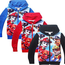 Kids Boys Girls Long Sleeve Hoodies Zip Novelty Party Coat Jacket 3-9 Years