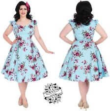 HEARTS AND ROSES H&R LONDON FLORAL FLARED TEA DRESS RETRO VINTAGE 50'S PLUS SIZE