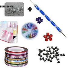 Nail Art Tips Brush Pen Acrylic Dotting Drawing Painting Liner Rhinestone B0N01
