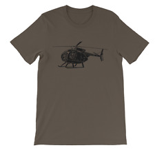 KillerBeeMoto: Hughes OH-6A Cayuse Helicopter Shirt Army Green