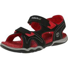Timberland Adventure Seeker Youth Black/Red Synthetic Flat Sandals