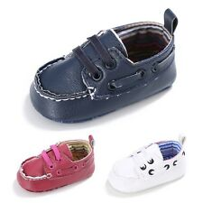 0-18M Baby Boy Prewalker Soft Soled Crib Shoes Casual PU Leather Sneakers