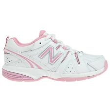 New Balance KXT625PY GIRL'S X-TRAINING SHOES, WHITE/PINK - Size US 5, 6 Or 7