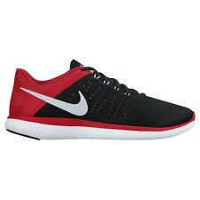 Nike Flex 2016 Run MEN'S RUNNING SHOES, BLACK/RED/WHITE - Size US 7, 8, 8.5 Or 9