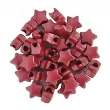 100, 50, 25 dark red pearl star pony beads - dummy clips bracelets hair braiding