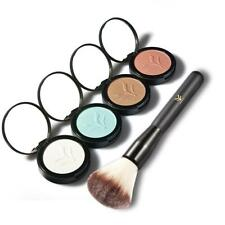 Makeup Face Highlighter Bronzing Contour Powder Eyeshadow Shimmer w/ Brush Set