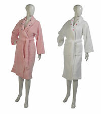 Womens Super Soft Polyester Coral Fleece Dressing Gown Floral Shawl Collar Robe