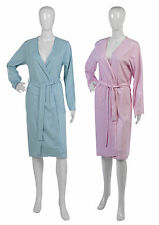 Womens Combed Cotton Polka Dot Dressing Gown Ladies Lightweight Spotty Wrap Robe