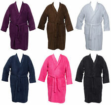 Unisex Bathrobe Cotton Terry Towelling Dressing Gown Mens Womens Wrap Style XL