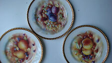 ROYAL STAFFORDSHIRE / SALLY-ANN DECORATIVE BONE CHINA PLATE - PEAR -PEACH -PLUM